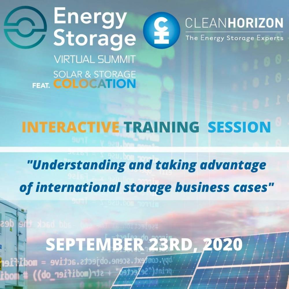 Training webinar – Solar & Storage Colocation: understanding and taking advantage of international storage business cases